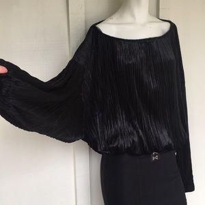 NWT- LUMIÈRE- Oversized velvet shirt Size small